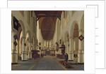 Interior of the Oude Kerk, Delft by Hendrik Cornelisz. van Vliet