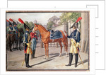 Officer and Guard of the Royal Guard in 1826 by French School