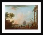 Sea Port, Sunrise by Claude Joseph Vernet