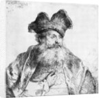 Portrait of an old man by Rembrandt Harmensz. van Rijn