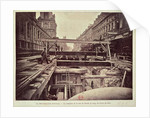 Construction of the metro system along the rue de Rivoli by French School