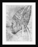 Head of a bishop by Antonio Pisanello