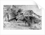 Cottage on the Outskirts of a wood by Rembrandt Harmensz. van Rijn
