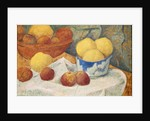 Apples with a Blue Dish by Paul Serusier