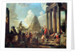 Alexander III (356-323 BC) the Great before the Tomb of Achilles by Giovanni Paolo Pannini or Panini
