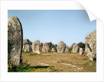 Alignment of standing stones, Megalithic Period by Prehistoric