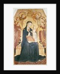 Madonna and Child Enthroned with Six Angels, central panel from an altarpiece by Sassetta