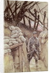 Infantrymen in a Trench, Notre-Dame de Lorette by Francois Flameng