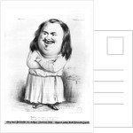 Caricature of Honore de Balzac illustration from 'Le Charivari' by French School