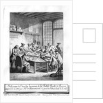 Interior of the Small Post Office in Paris in 1760 by Burn Smeeton