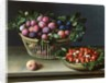 Basket of Plums and Basket of Strawberries by Louise Moillon