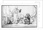 Parable of the ruthless creditor by Rembrandt Harmensz. van Rijn