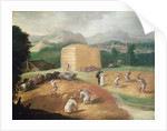 Landscape with Corn Threshers by Niccolo dell' Abate