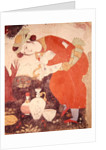 Woman pouring Wine in the Court of Shah Abbas I by Persian School