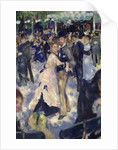 Le Moulin de la Galette, detail of the dancers by Pierre Auguste Renoir