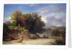 Landscape on the Outskirts of Rome by Jean Achille Benouville