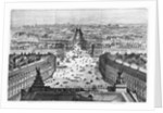 Improvements to Paris, opening of Avenue Napoleon after the building of the Butte des Moulins by Auguste Victor Deroy