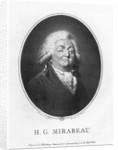 Honore Gabriel Riqueti, Comte de Mirabeau by Jean Urbain Guerin