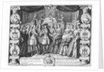 Birth of Louis, Dauphin of France, son of Louis XV, on by French School