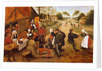 A Flemish Kermesse by Pieter the Younger Brueghel