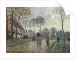 The Coach to Louveciennes by Camille Pissarro