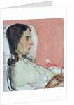 Madame Valentine Gode Darel, Ill by Ferdinand Hodler