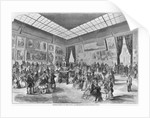 Salon of painting and sculpture of 1857, the main room in the Palais de l'Industrie gallery, Paris by A Provost