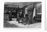 Homes of Victor Hugo, the lounge at Hauteville house in Guernsey, the armchair of the ancestor by Charles Gosselin