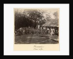Burmese dancers celebrating, Burma, late 19th century by English Photographer
