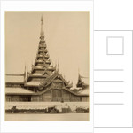 The Myei-nan or Main Audience Hall in the palace of Mandalay, Burma by Unknown