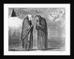 Series 'Actualites', the comet, Ah! ma pauv' madame Chaffarou by Honore Daumier