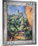 Red rock by Paul Cezanne
