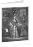 The Chevalier d'Eon, dressed as a woman by French School