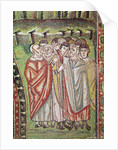 The Hebrew People, detail of The Hospitality of Abraham and the Sacrifice of Isaac by Byzantine School