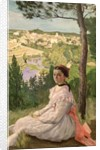 View of the village, Castelnau by Jean Frederic Bazille