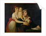 Camille Desmoulins his wife Lucile and their son Horace-Camille by Jacques Louis David