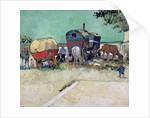 The Caravans, Gypsy Encampment near Arles by Vincent van Gogh