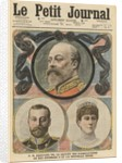 Death of King Edward VII, King George V and Queen Mary by French School