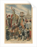 A picturesque and traditional feast, the procession of the Giants at Valenciennes by French School