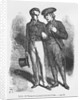 Lucien de Rubempre and Carlos Herrera by French School