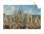 Preparation For the Firework Display Held at Piazza Navona, Rome, to Celebrate the Birth of the Dauphin by Giovanni Paolo Pannini or Panini