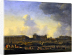 View of the river Seine, the Louvre and the Palais Bourbon by Reinier Zeeman