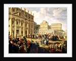 Charles de Bourbon visiting Pope Benedict XIV at St Peter's, Rome by Giovanni Paolo Pannini or Panini