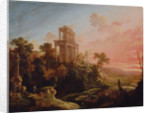 Landscape with Setting Sun by Antoine Pierre the Younger Patel