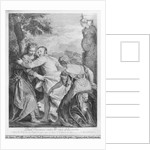 Veronese (Paolo Caliari) between Vice and Virtue by Louis Desplaces