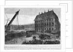 Fall of the column in the Place Vendome, Paris by French School
