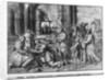 Life of Christ, Adoration of the Magi, preparatory study of tapestry cartoon for the Church Saint-Merri in Paris by Henri Lerambert