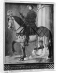 Equestrian portrait of King Francis I of France by Jean Clouet