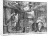 Life of Christ, Annunciation, preparatory study of tapestry cartoon for the Church Saint-Merri in Paris by Henri Lerambert