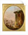 Temple of Vesta and the Arch of Janus Quadrifons by Hubert Robert